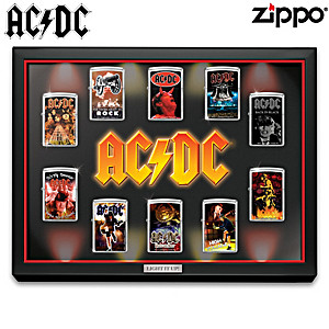 AC/DC Zippo® Lighters With Lighted Display
