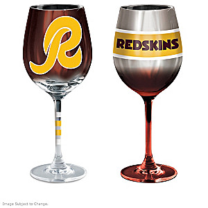 "Redskins ""Burgundy And Gold"" Wine Glass Collection"