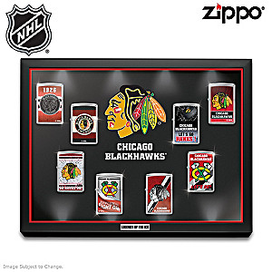Blackhawks® Zippo® Collection With Lighted Display