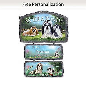 Linda Picken Shih Tzus Personalized Welcome Sign