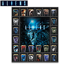 Aliens Shot Glass Collection With Custom Display