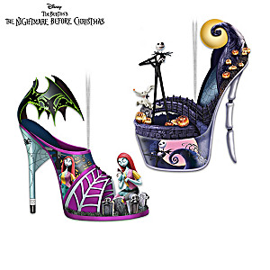 The Nightmare Before Christmas Shoe Ornament Collection
