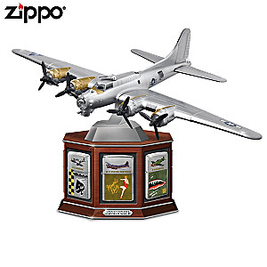 WW II Aircraft Zippo® Lighters With B-17 Bomber Display