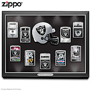 Oakland Raiders Zippo® Collection With Display