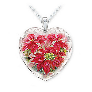 Lena Liu Floral Art Pendant Collection With Collector's Box