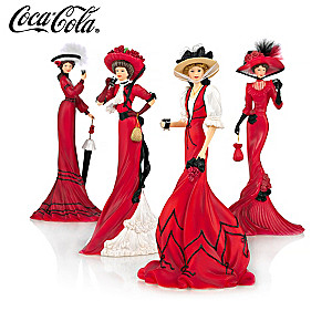 Coca-Cola Advertising-Inspired Elegant Woman Figurines