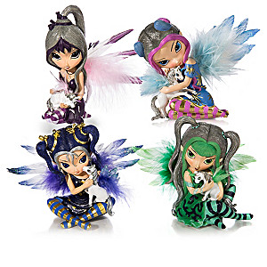 """Enchanted Companions"" Fairy And Unicorn Figurine Collection"