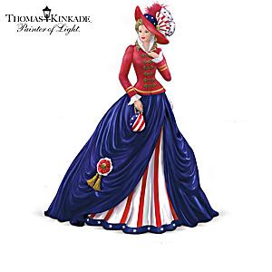 Thomas Kinkade American Pride Victorian Lady Figurines