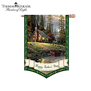 "Thomas Kinkade ""Year Of Glad Tidings"" Flag Collection"