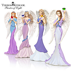 Thomas Kinkade Alzheimer's Charity Angel Figurine Collection