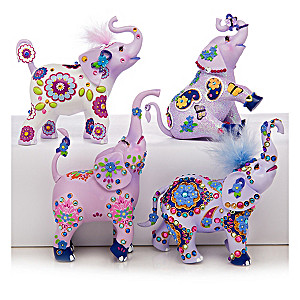 Margaret Le Van Alzheimer's Support Elephant Figurines