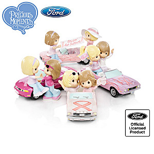 "Precious Moments ""On The Road To A Cure"" Figurine Collection"