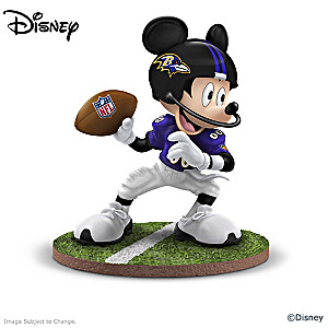Baltimore Ravens Disney Mickey Mouse And Friends Figurines