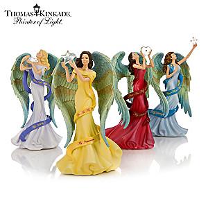 Thomas Kinkade Angel Figurines With Swarovski Crystals