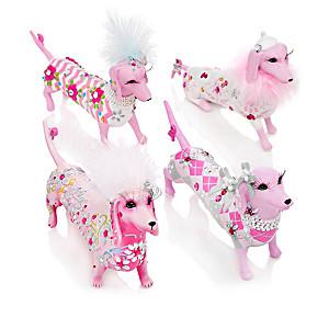 Margaret Le Van Breast Cancer Awareness Dachshund Figurines