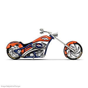 Denver Broncos Choppers With Team Logos And Graphics