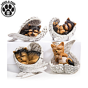 "Blake Jensen ""Paw Prints From Heaven"" Yorkie Figurines"