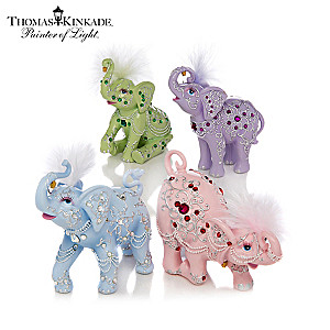 Thomas Kinkade Crystal Elegance Elephant Figurine Collection