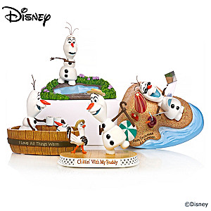 """Disney FROZEN """"Chillin' Out With Olaf"""" Figurine Collection"""