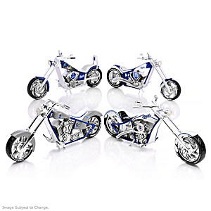 Kansas City Royals Chopper Figurines With Logos And Graphics
