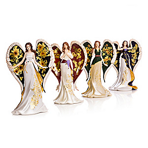 """Lena Liu """"On Wings Of Gold"""" Angel Figurine Collection"""