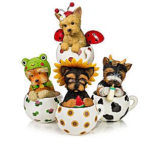 "Kayomi Harai ""Cups Of Affection"" Yorkie Figurine Collection"