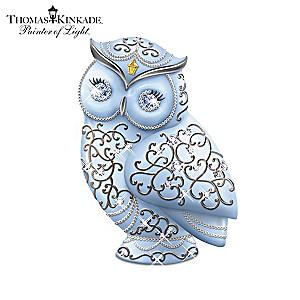 Thomas Kinkade Owl Collection With Swarovski Crystals