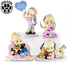 "Precious Moments ""World's Greatest Cat Mom"" Figurines"