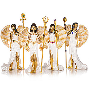 "Keith Mallett ""Empowering Faith Angels"" Figurine Collection"