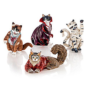 Blake Jensen Halloween Monsters Cat Figurine Collection