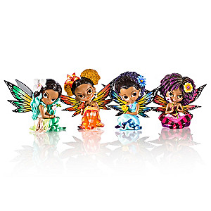"""Jasmine Becket-Griffith """"Butterfly Virtues"""" Fairy Figurines"""
