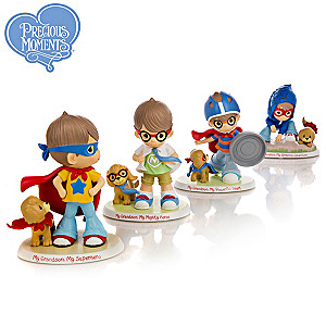 "Precious Moments ""Grandsons Are SUPER"" Figurine Collection"