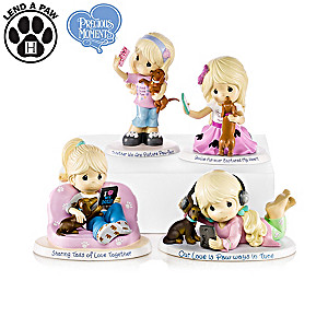 "Precious Moments ""World's Best Dog Mom"" Figurine Collection"