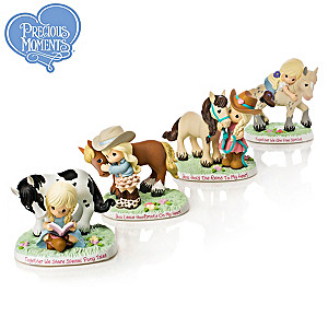 Precious Moments Our Perfect Pony Tales Figurine Collection