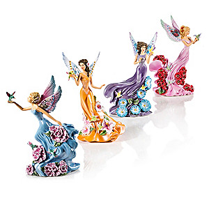 "Lena Liu's ""Whispering Wings"" Fairy Figurine Collection"