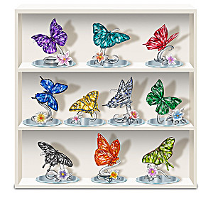 Blake Jensen Crystalline Butterfly Figurines And Display