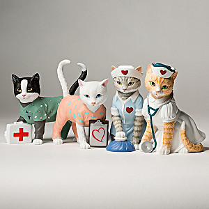 """Tender Purring Care"" Nurse Cat Figurine Collection"