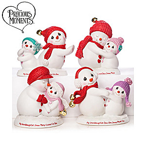 Precious Moments Granddaughter Snowman Figurine Collection