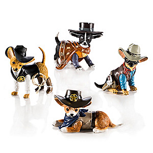 """Spurs 'N Fur"" Chihuahua Cowboy Figurine Collection"