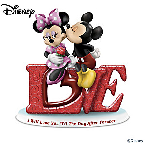 Mickey Mouse And Minnie Mouse Love Figurine Collection