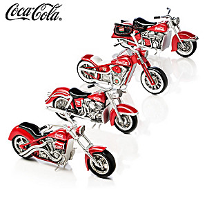 """Refreshing Rides"" COCA-COLA Motorcycle Sculpture Collection"