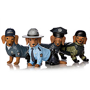 Blake Jensen Dachshund Police Figurine Collection
