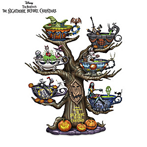 Halloween Town Glow-In-The-Dark Tabletop Tree Collection