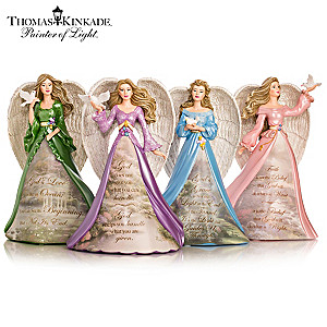 "Thomas Kinkade ""Angels Of Peace"" Figurine Collection"