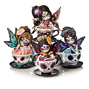 Jasmine Becket-Griffith Sugar Skull-Inspired Teacup Fairies