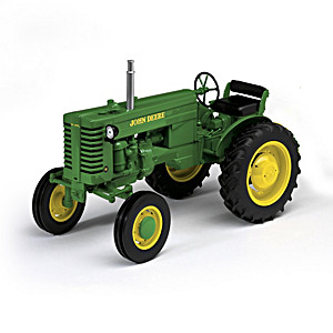 1:16-Scale John Deere Diecast Tractor And Plow Collection