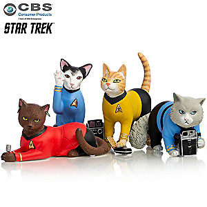 "STAR TREK ""Space Cat Crusaders"" Cat Figurine Collection"