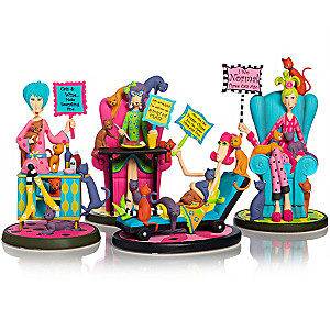 "Dolly Mama's ""Totally Cat-a-holic"" Figurine Collection"