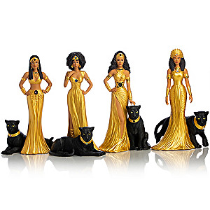 "Keith Mallett ""Royal Panther Queens"" Figurine Collection"