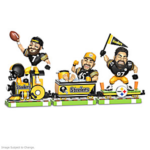 Pittsburgh Steelers Train Figurine Collection With Players